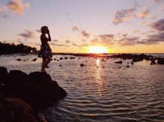 Watching the sunset, Grand Baie, Mauritius