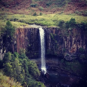 Waterfall in central Drakensberg